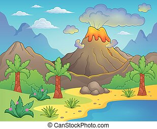 tema, preistorico, paesaggio