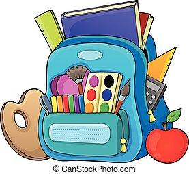 tema, schoolbag