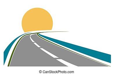 tema, transporte, estrada