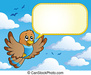 tema, uccello, immagine, 4