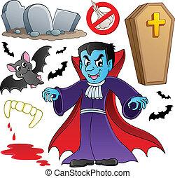 tema, vampiro, collezione