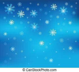 temat, 2, płatek śniegu, tło
