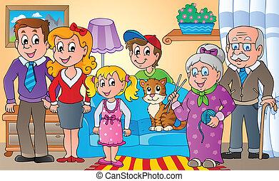 temat, 2, wizerunek, rodzina