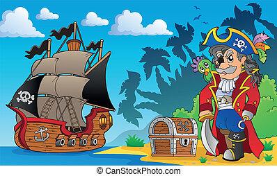 temat, brzeg, 3, pirat