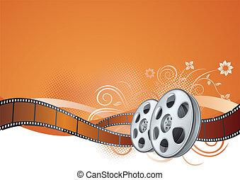 temat, film, film, pas, element