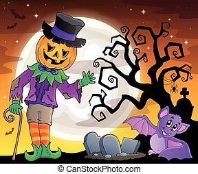 temat, halloween, figura