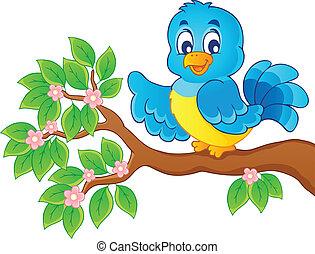 temat, ptak, wizerunek, 6