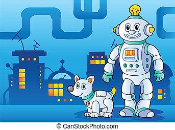 temat, robot, wizerunek, 4