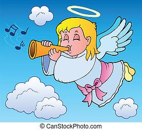 temat, wizerunek, anioł, 3