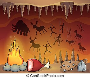 tematico, preistorico, caverna