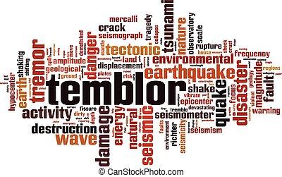 temblor, λέξη , σύνεφο