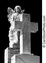 temető, angyal