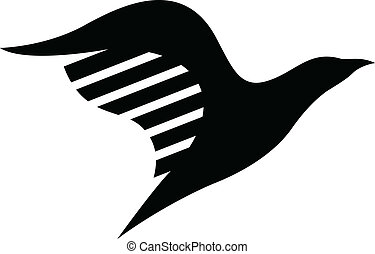 temný ptáci, ikona