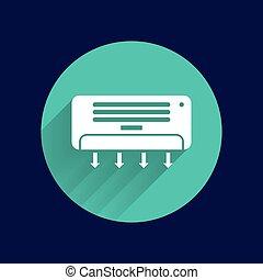 température, air, celsius, climatiseur, froid, technologie, icône
