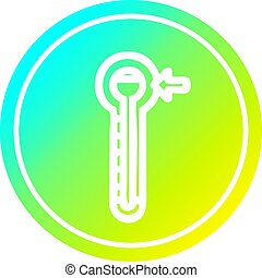 température, gradient, spectre, élevé, froid, circulaire