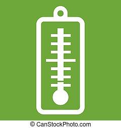 température, indique, vert, bas, thermomètre, icône