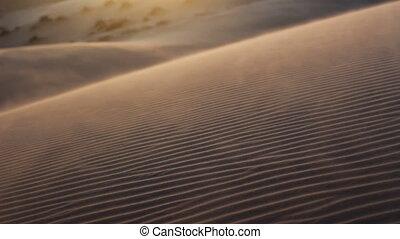 tempête sable, désert