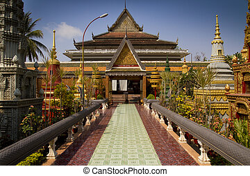Tempel, asiático, camboya