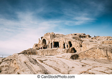 tempel, kartli, östlich, stadt, unesco, rock-hewn, decken, ...
