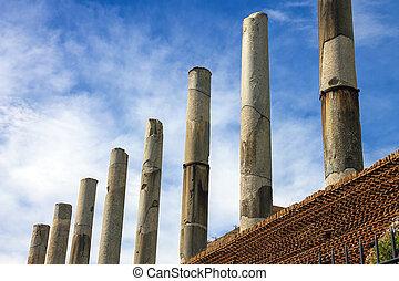 tempel, rom, italien, kolonnade, venus, ruinen