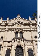 tempel, rua, polônia, sinagoga, miodowa, kazimierz, distric, krakow