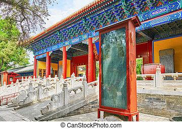 tempel, von, confucius, an, beijing, gleichfalls, der,...