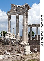 tempel, von, trajan, an, akropolis, von, pergamon