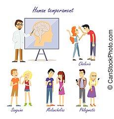 temperament, 人間, types., 科学者, 人格