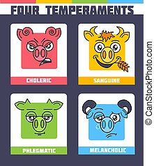 temperaments, セット, 4