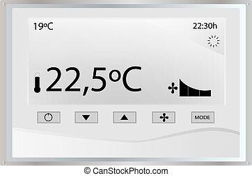 temperatur, heizungsregler