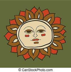 temperatura, słońce, litera, znak, pogoda, rysunek