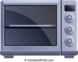 Temperature convection oven icon. Cartoon of temperature convection oven vector icon for web design isolated on white background