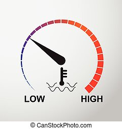 Temperature dial vector