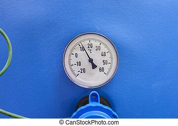 temperature gauge with sensor