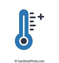 temperature  glyph color icon