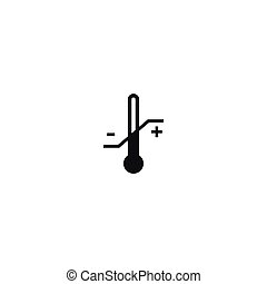 Temperature limitation symbol on white background -...