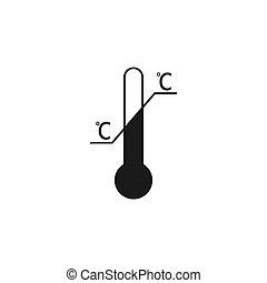 Temperature limitation symbol. Vector illustration, flat ...