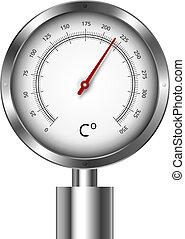 Temperature meter gauge - illustration of a temperature...