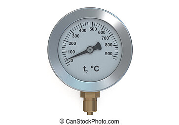 Temperature meter gauge isolated on white background