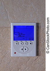 temperature on a digital thermostat - digital climate...