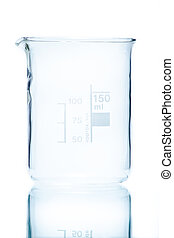 Temperature resistant cylindrical beaker for measurements...