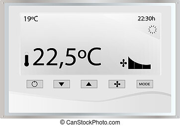 Temperature thermostat on a white background