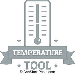 Temperature tool logo, simple gray style
