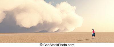 tempesta polvere