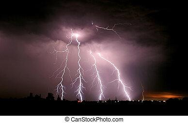 tempestade, relampago