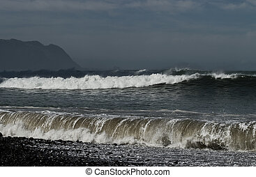 tempestuoso, ondas
