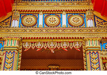 tempio, arte, tailandia