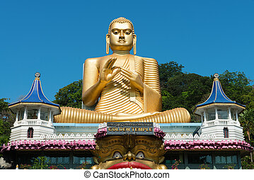 tempio, dambulla, dorato, sri lanka