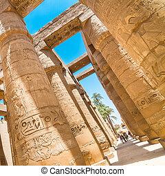 tempio, di, karnak, lussare, egypt.