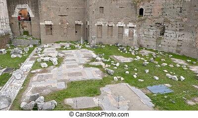 Tempio di Marte Ultore - Fori Romani, Roma, Italy. UltraHD...